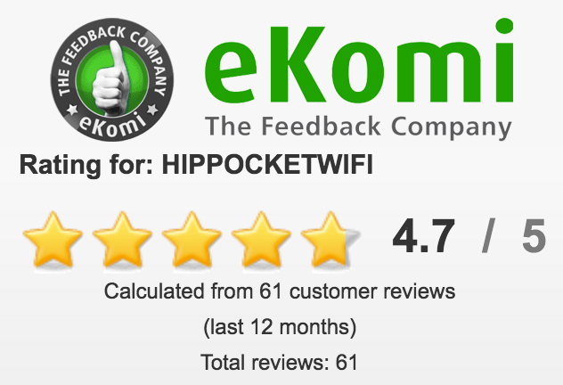 Customer reviews on eKomi