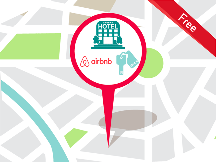 delivery at hotel or airbnb